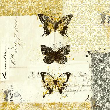 Golden Bees n Butterflies No. 2 von Katie Pertiet