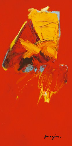 Triptyque rouge III von Pascal Magis