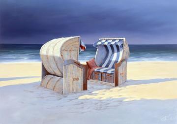 Beach Chairs I von Sigurd Schneider