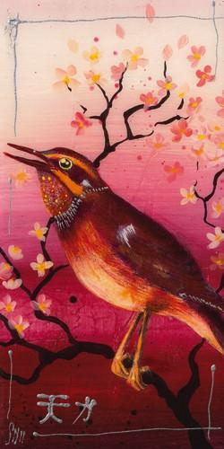 Oiseau Rouge II von Sabine Gotzes