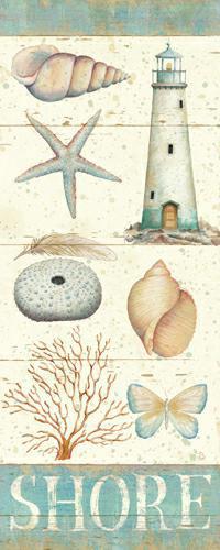 Pastel Coast Panel II von Daphne Brissonnet