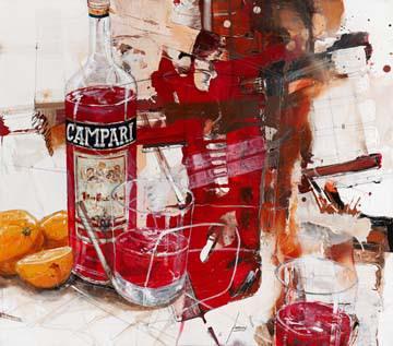 Das Rot, das aus der Flasche kom von Norbert Mayer