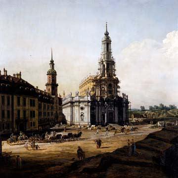Dresden vom Elbufer von Canaletto