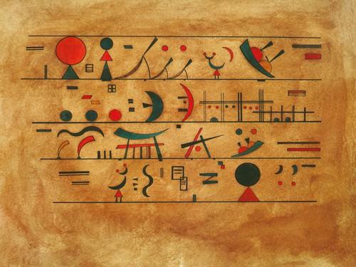 Righe di segni von Wassily Kandinsky