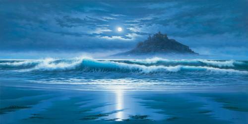 Moonlit St Michaels Mount von John F Sim