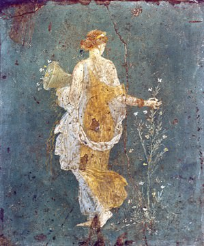 Flora mit dem Füllhorm von Pompeji