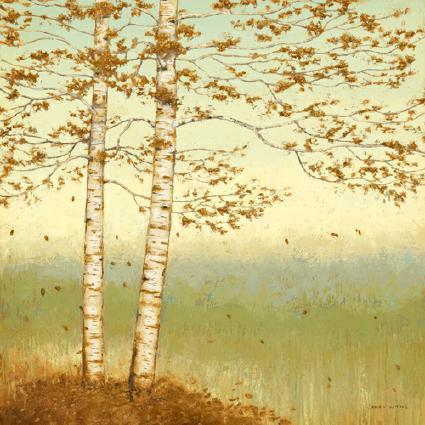 Golden Birch I with Blue Sky von James Wiens