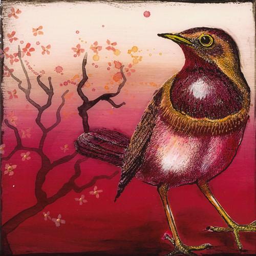 Oiseau Rouge I von Sabine Gotzes