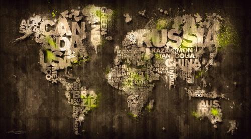 Dark Storm Lime Green von Mikael B. Design