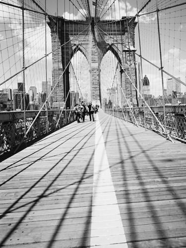 Brooklyn Bridge Tower and Cables #1 von Dave Butcher