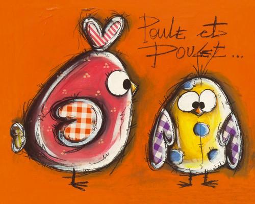 Poule et Poulet von Carine Mougin