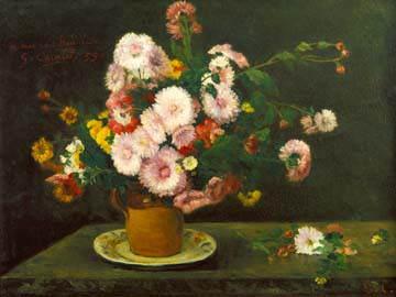 Asternstrauß von Gustave Courbet