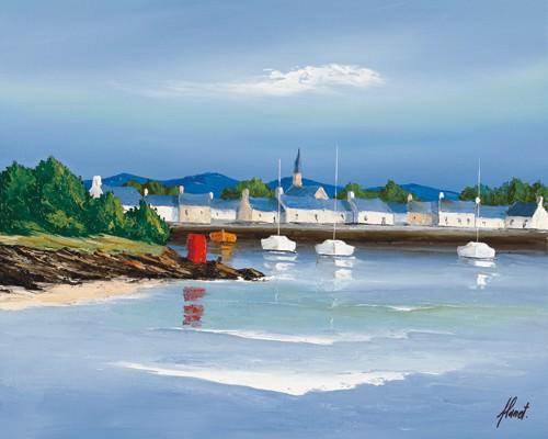 Port breton - Barques rouges von Frederic Flanet