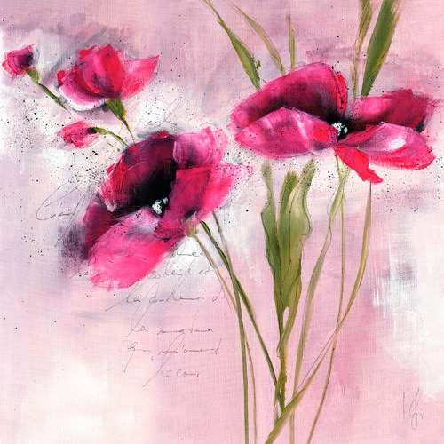 Pink Flower I von Isabelle Zacher-Finet