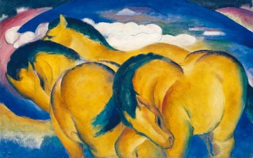 Die kleinen gelben Pferde von Franz Marc