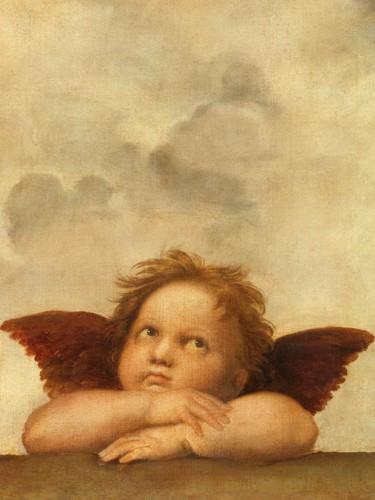 Die Sixtinische Madonna (Detail) VI von Raffael