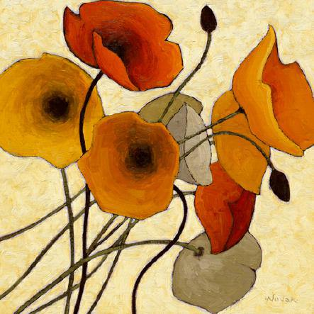Pumpkin Poppies II von Shirley Novak