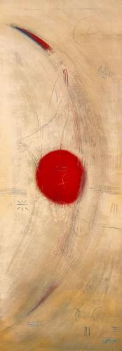 Triptyque rouge III von Carole Becam