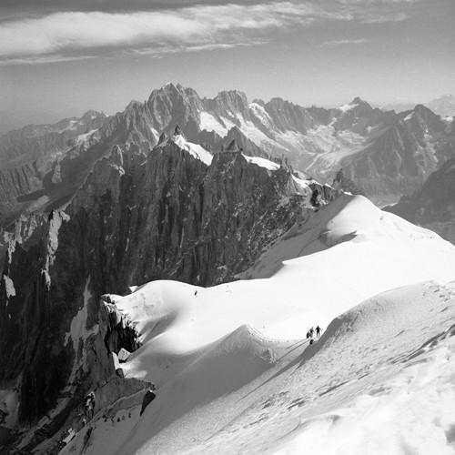 Descent to the Vallee Blanche, Chamonix von Dave Butcher