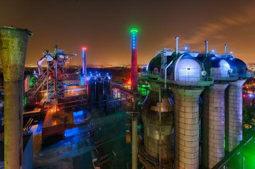 Duisburg Nacht von Rolf Fischer