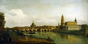 Dresden, Blick vom Elbe-Ufer... von Canaletto