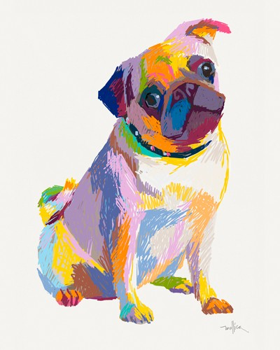 Pug Sketch von Patti Mollica
