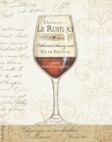 Wine by the Glass I von Daphne Brissonnet
