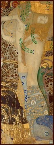 Wasserschlangen I von Gustav Klimt
