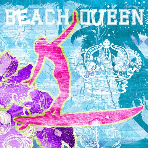 Beach Queen von Ink Wonderland