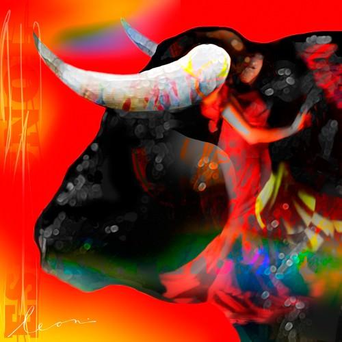 Cabeza de Toro Roja von Leon Bosboom