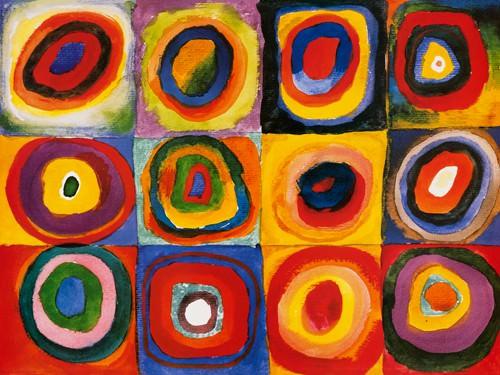 Farbstudie Quadrate von Wassily Kandinsky