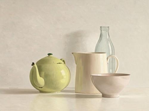 Yellow Teapot, Bottle, Bowl and Jug von Willem de Bont