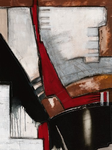 Diagonale rosso III von Andreas Alba