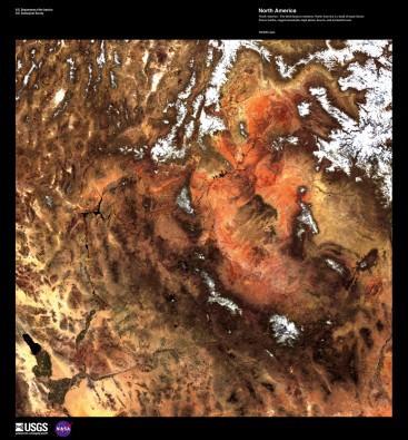 North America von Landsat-7