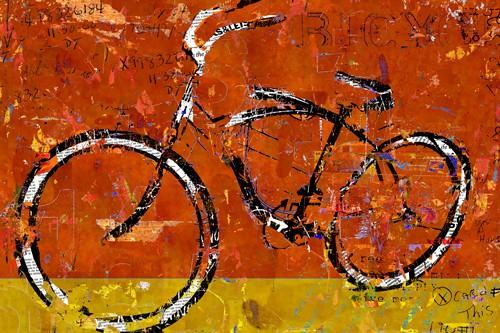 Gold and Orange Bike von Daryl Thetford