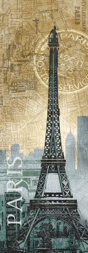 Paris Map von Conrad Knutsen