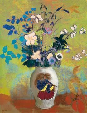 Blumen in einer Vase von Odilon Redon