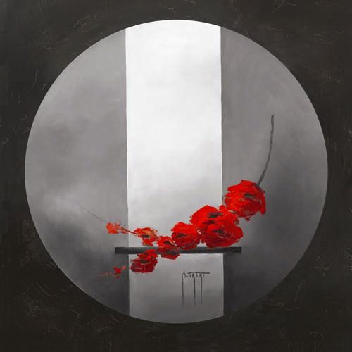 Fleurs rouges von Bernadette TRIKI