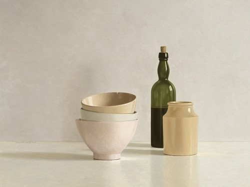 Stacked Bowls, Bottle and little Jar von Willem de Bont