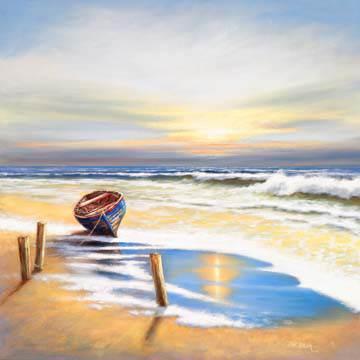 Boat on the shore von Eric Erwin