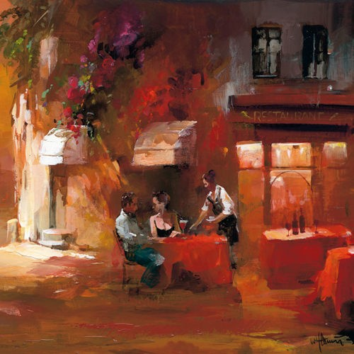 Dinner for two III von Willem Haenraets