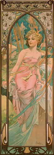 Das Erwachen des Morgens von Alfons Mucha