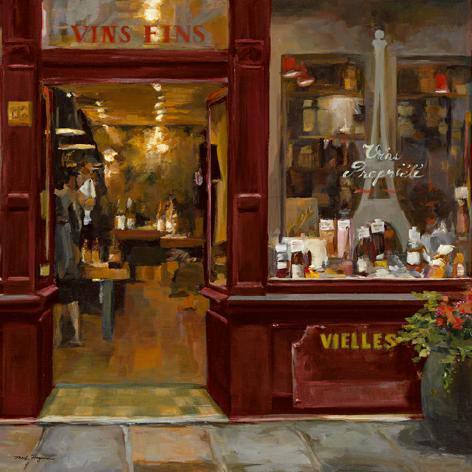 Parisian Wine Shop Red Crop von Marilyn Hageman