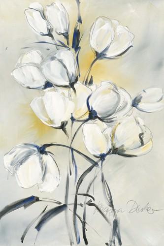 weiee Tulpen I von Regina Decker