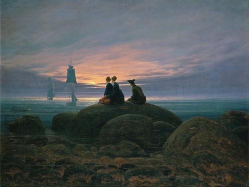 Mondaufgang am Meer von Caspar David Friedrich