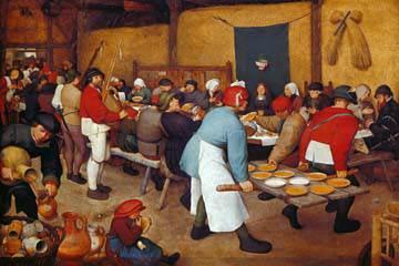 Bauernhochzeit von Pieter d. Ä. Brueghel