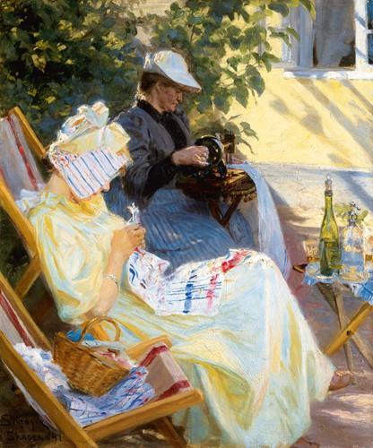 Zwei Frauen im Garten von Peder Severin Kreyer