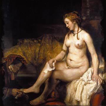 Bathseba im Bade von Van Rijn Rembrandt