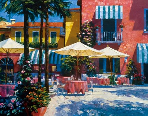 Inn at Lake Garda von Howard Behrens