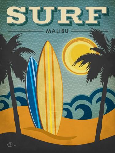 Surf Malibu von Renee Pulve